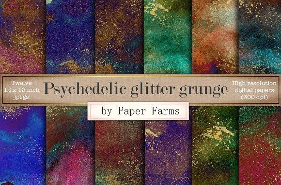 Psychedelic Grunge Digital Paper