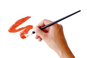hand drawing a stroke