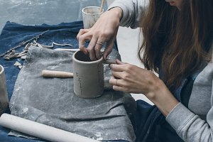 Young ceramist