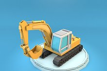 Cartoon Excavator Low Poly  by  in Vehicles