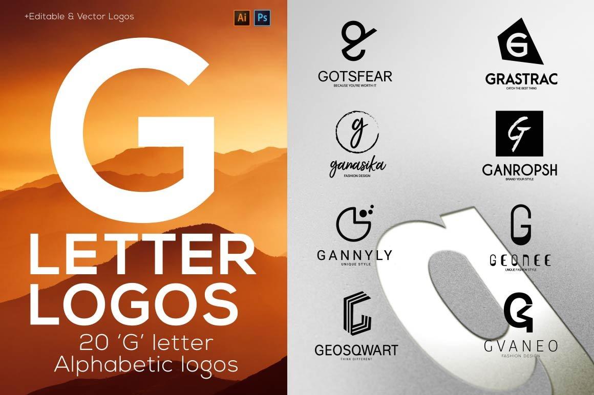 20 G Letter Alphabetic Logos Creative Logo Templates Creative Market