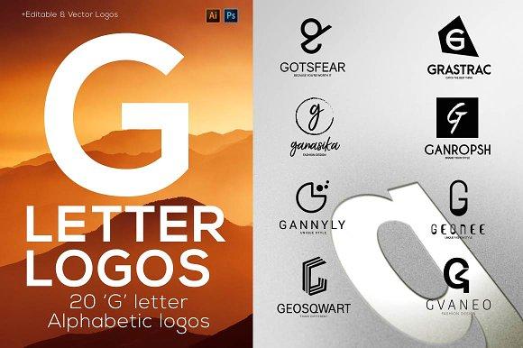 """20 """"G"""" Letter Alphabetic Logos"""