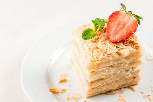 Millefeuille with mint & strawberry