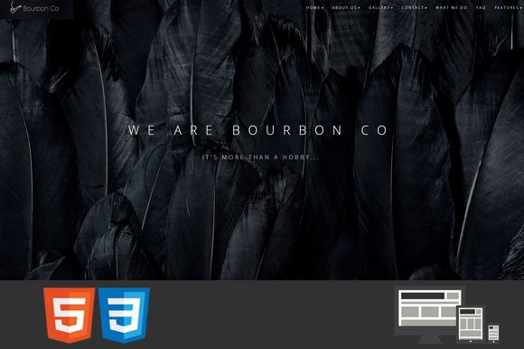 Bourbon One MultiPage HTML Template