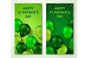 Saint Patrick's Day Vertical Banners Set