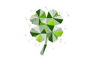 Saint Patrick's Day four leaf clover