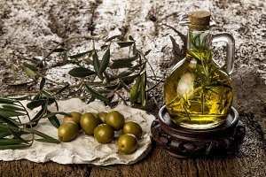 The rosemary in the bottle of oil
