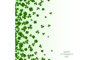 Saint Patrick's Day Vertical Banner with Clovers