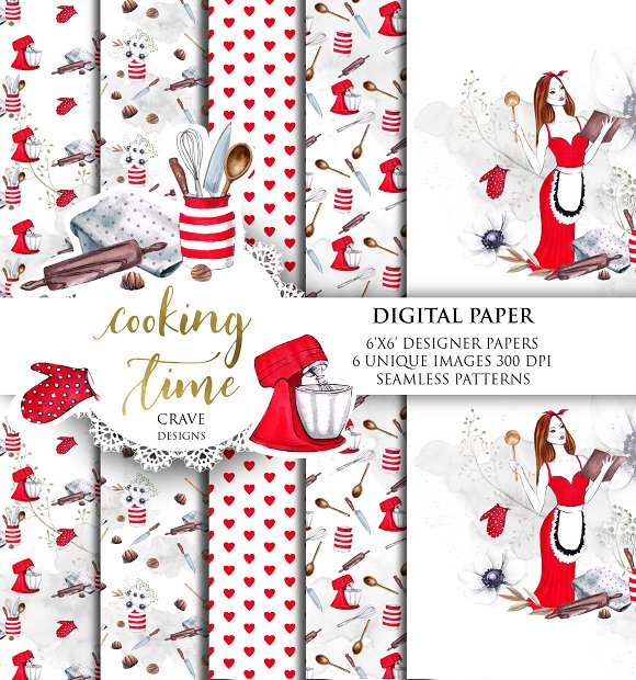 Cooking Time Digital Paper