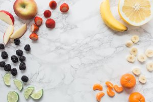 Colorful Fruit w/ Marble Vol.