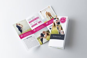 tri fold mock up psd product mockups creative market