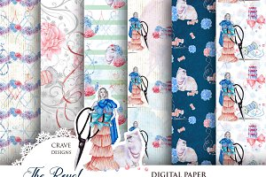 The Royal Seamstress Digital Paper
