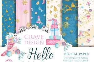 Hello Winter Digital Paper