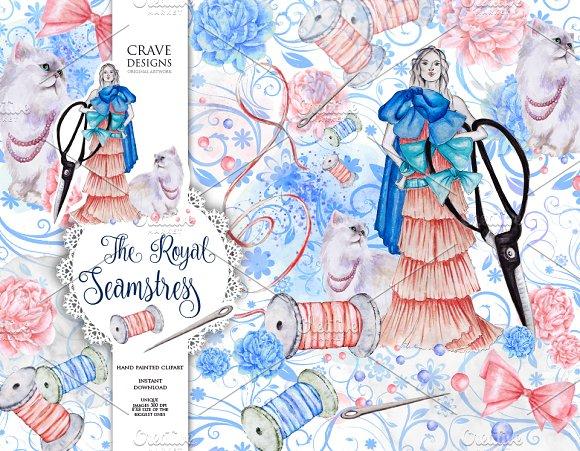 The Royal Seamstress Clip Art