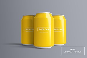 Can Mock-Up - 330ml