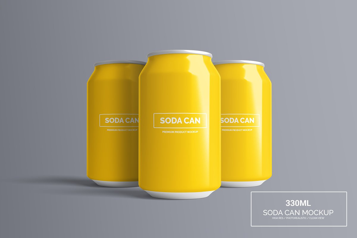 Can Mock-Up - 330ml ~ Product Mockups ~ Creative Market