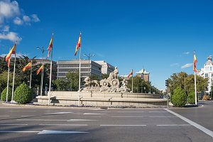cibeles fountain in Madrid, Spain.