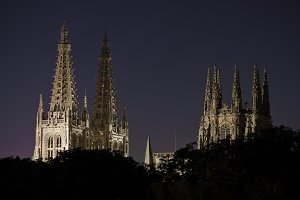 Night view of Burgos cathedral