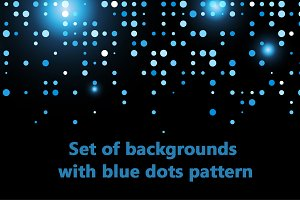 Backgrounds with blue dots pattern
