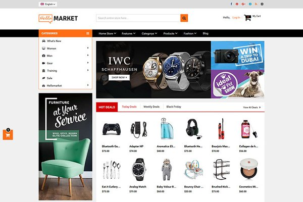 Magento Themes -  Marketplace Magento 1 & 2 Theme