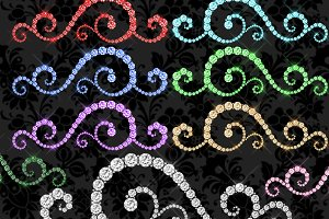 Diamond Flourishes clipart