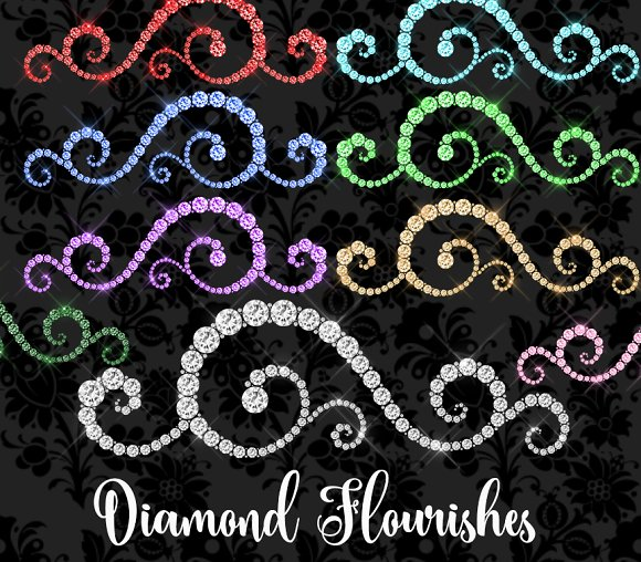 Diamond Flourishes Clipart