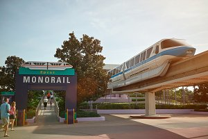 Entrance to monorail