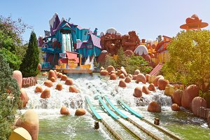 Aqua park slide