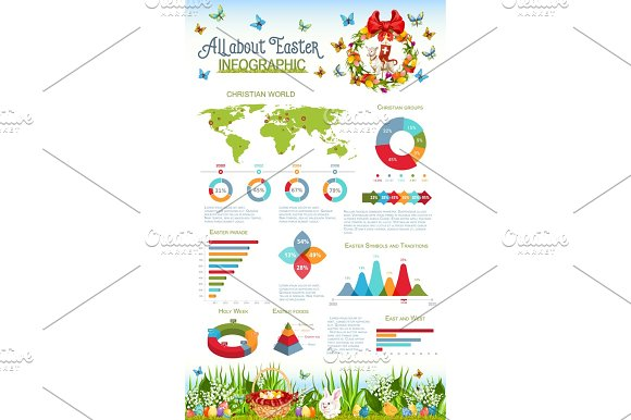 Easter And Holy Week Infographic Design