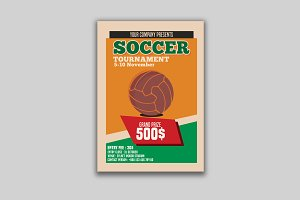 Vintage Soccer Tournament Flyer