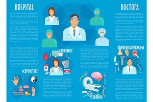 Medical or hospital healthcare vector infographics