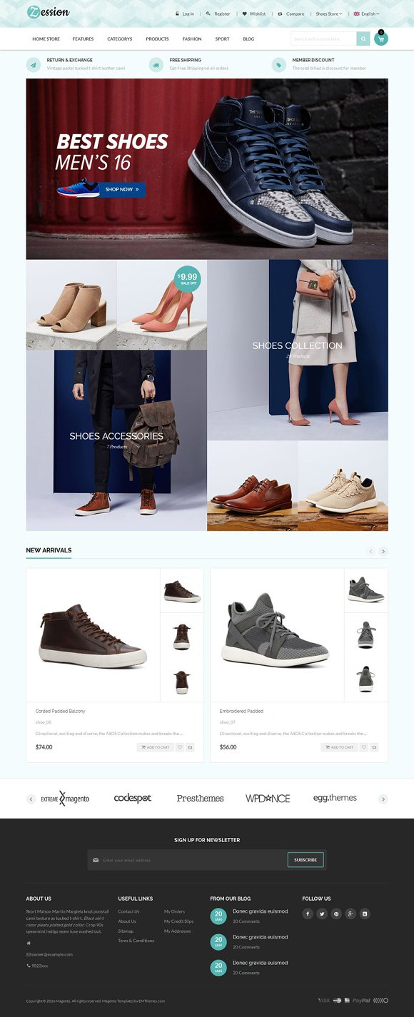 Shoes Store Magento 1 2 Theme