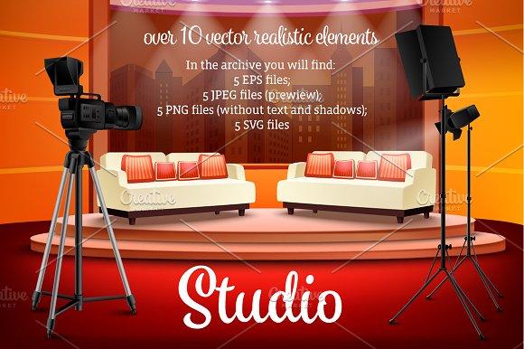 Realistic Studio Interiors