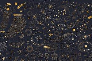 Celestial Doodles Clip Art
