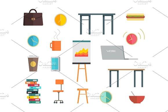 Interior Office Elements Set