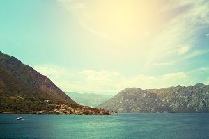 View on Kotor bay in Montenegro