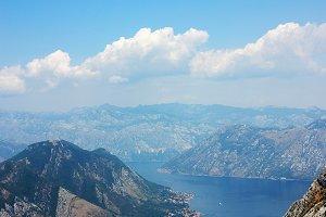 View on Kotor bay in Montenegro