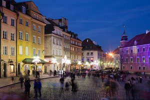 Warsaw Old Town by Night