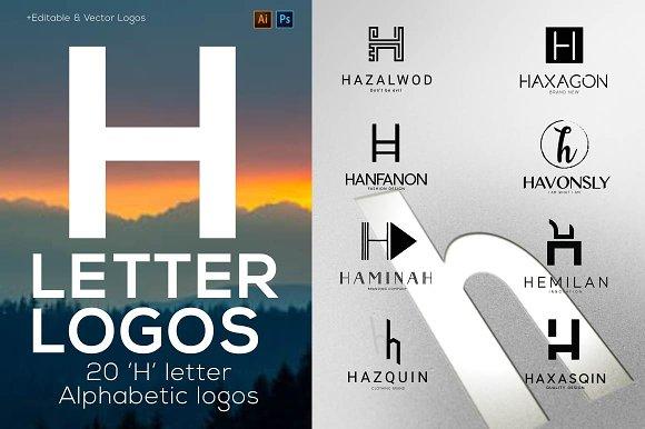20 H Letter Alphabetic Logos