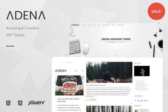 ADENA Amazing Minimal WP Theme