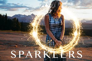 150 Sparkler Overlays