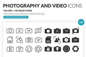 Photography and Video Icons