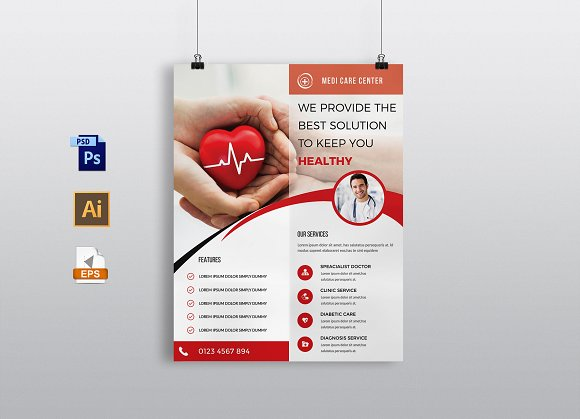 Doctors Medical Flyer Template
