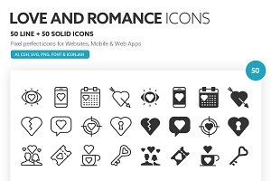 Love and Romance Icons