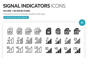 Signal Indicators Icons