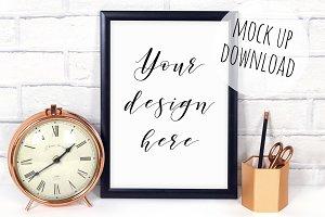 Modern Frame Mockup Black and Copper