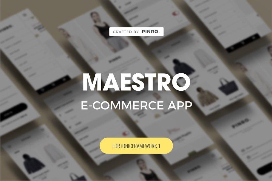 Maestro - Ionic 1 E-commerce Theme ~ Web Themes ~ Creative