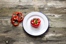 Fresh red pepper