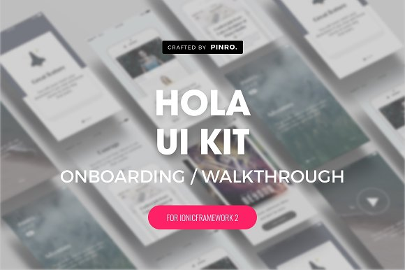 Hola UI Kit Ionic 2 Theme