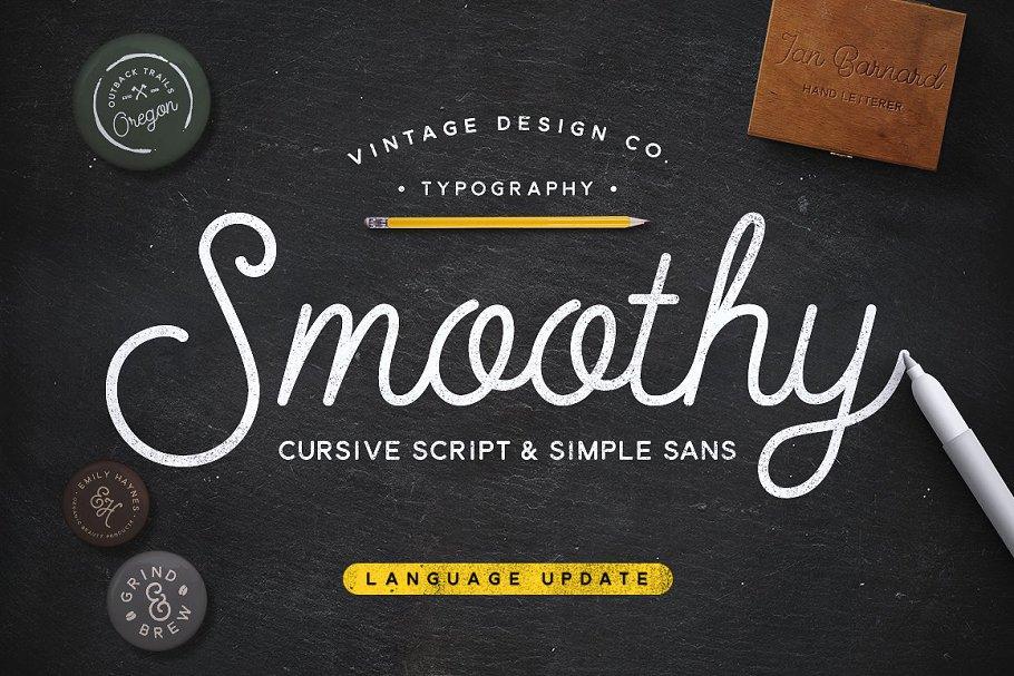 Smoothy - Cursive Script & Sans